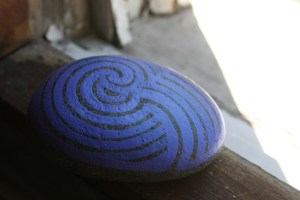 koru hand painted rock