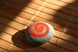 koru hand painted rocks