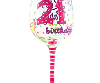 0e70947ce32 Top Shelf 21st Birthday Wine Glass – Hand Painted – Unique Gift Idea