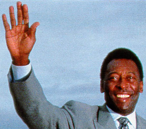 Pelé - Golden ball winner of the FIFA World Cup 1970.
