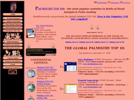 The palmistry TOP 100!