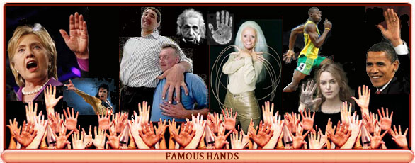 Famous hands: the hand of a celebrity