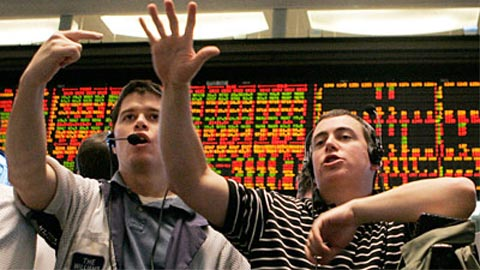 Finger length in London stock traders.