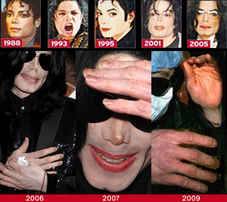 The fingernails of Michael Jackson: 1988 - 2005.