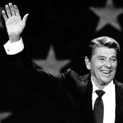 Ronald Reagan's right hand.