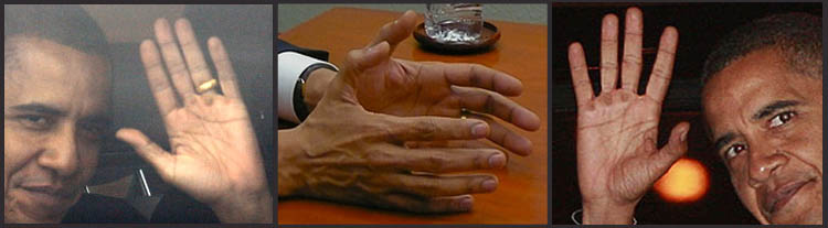 Barack Obama's hands: the hand of power!