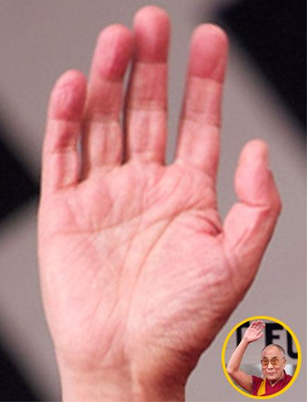 The right hand of the Dalai Lama!