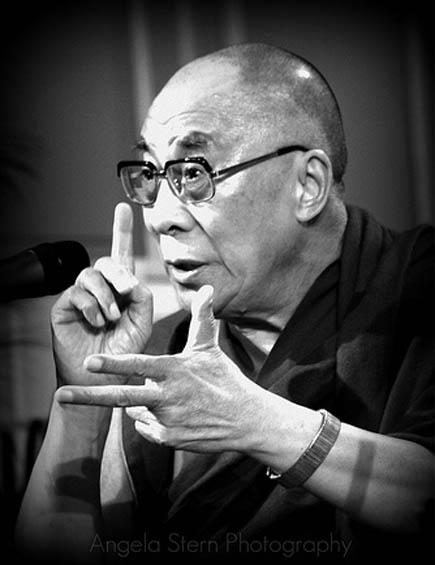 Speaking hands by the Dalai Lama.
