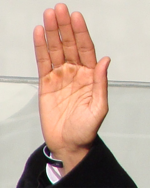 The right hand of Barack Obama - photo impression from his inauguration.