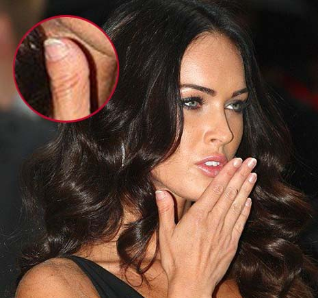 Megan Fox has a stubby thumb, featured with a short, broad fingernail!