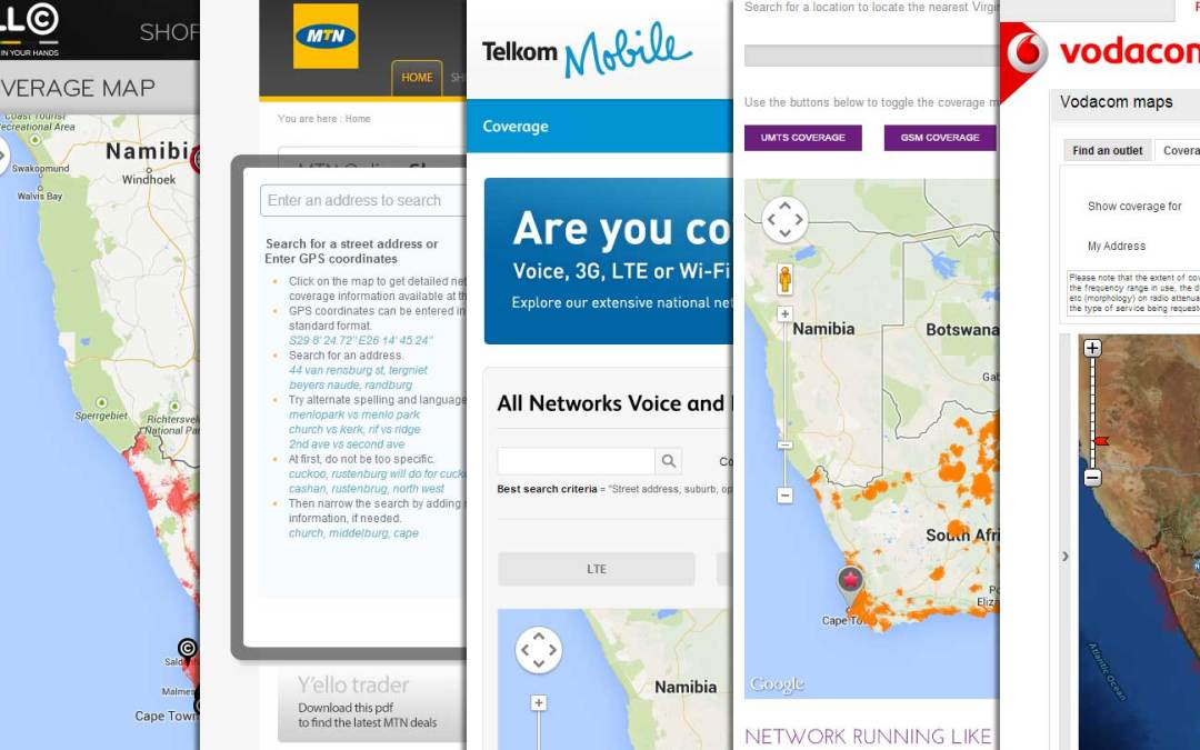 South African Cellphone Coverage Maps   Vodacom, Cell C, MTN