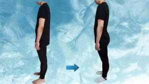 ストレートバック(平背)の原因は脚長差|右脚長1,5cm→ほぼ同長へ