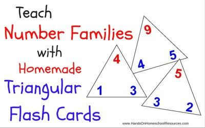 Teach Number Families with Homemade Triangular Flash Cards