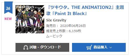 Six Gravity Paint It Black Oricon Monthly