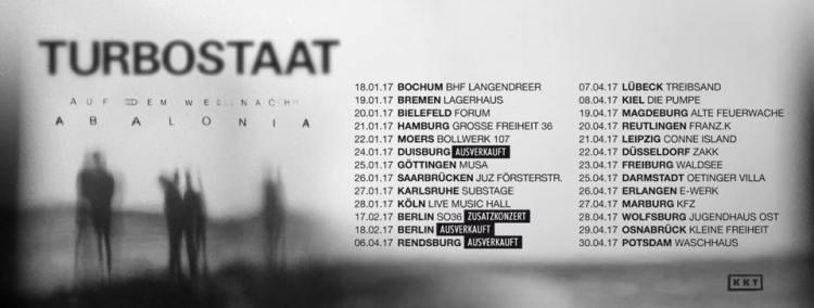 Turbostaat - Tourdaten