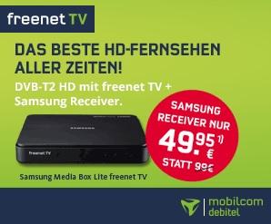 freenet TV Bundle: Vertrag + Samsung DVB-T2 HD-Receiver GX-MB 540 TL