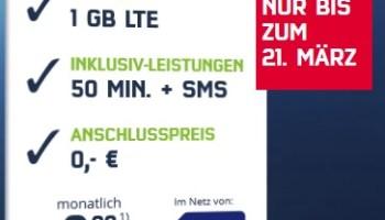 mobilcom-debitel Weekend-Special-Deal - Handyvertrag mit 1 GB LTE für nur 3,99 Euro im Monat