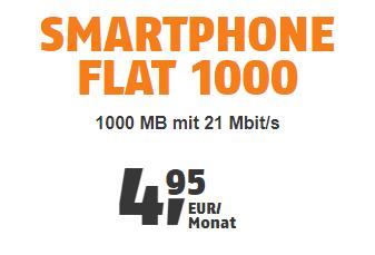 klarmobil.de Smartphoneflat nur 4,95 Euro monatlich