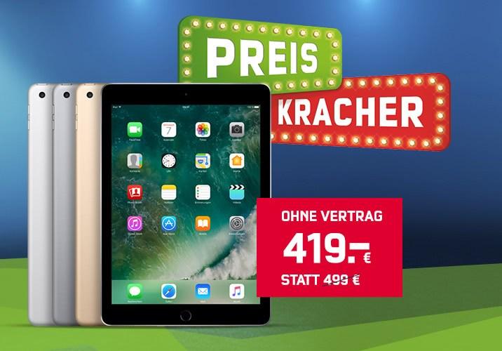 mobilcom-debitel Preiskracher - Apple iPad 2017 128 GB WiFi für nur 419 Euro