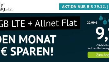 handyvertrag.de Weihnachts-Aktionstarif LTE All 10 GB für nur 9,99 Euro im Monat