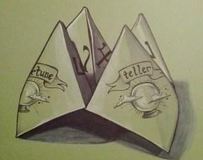 {paper fortune teller} day 79