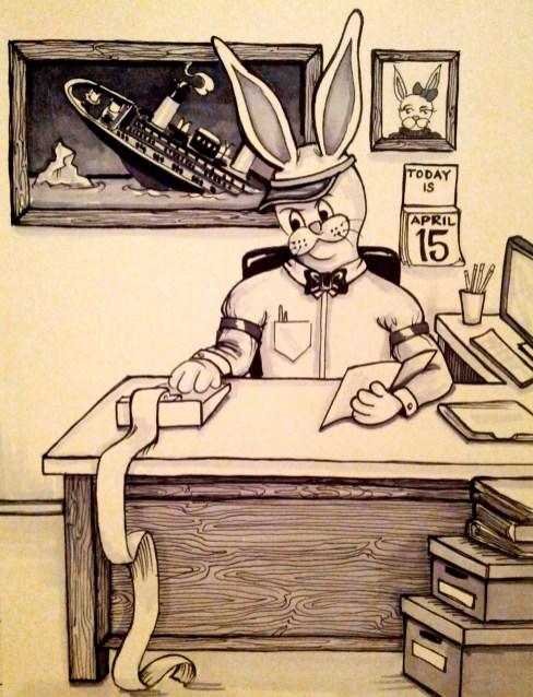 {bunny taxes titanic} day 105