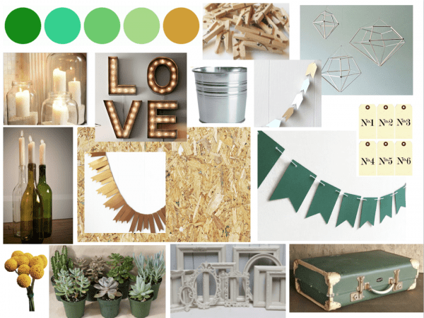Wedding inspiration collage