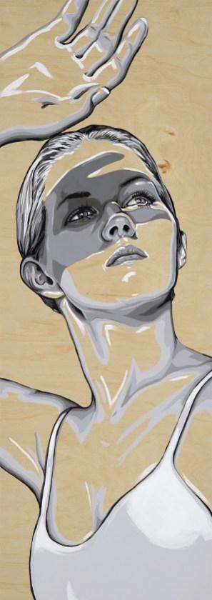 "She Radiant 17x48"" Acrylic on Birch Panel"