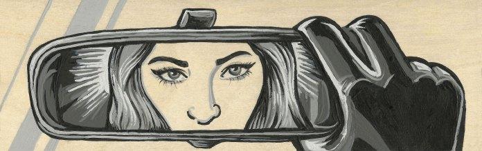 """*SOLDShe Reflect3x9""""Acrylic on Birch Panel"""