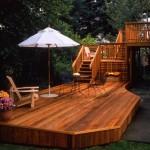 A great looking cedar deck