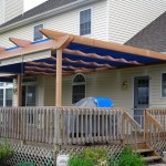 This western red cedar pergola makes a nice addition to an existing deck