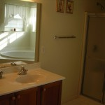 Handyguy Brian's master bathroom ready for paint.
