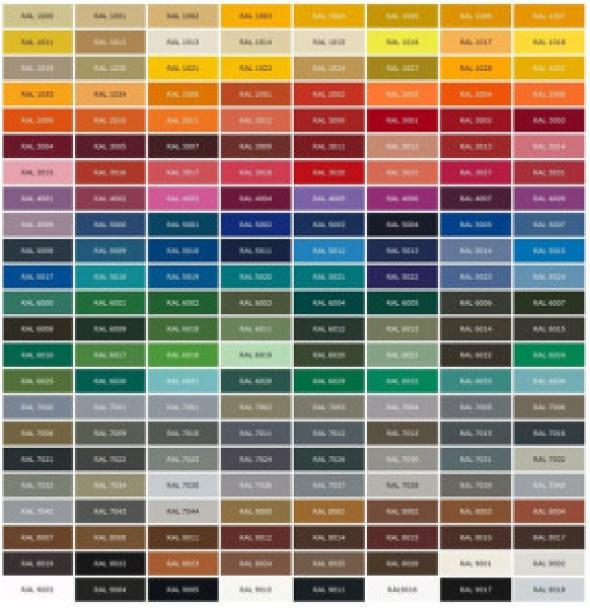 General Paint Color Chart