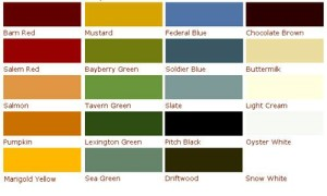 Old Fashioned Paint Colors