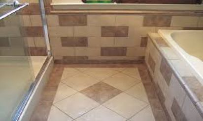 Ceramic tile borders for bathrooms