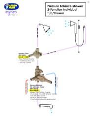 Ammara Valve 10, Pressure Balance Shower, 2 Function Individual, Tub/Shower