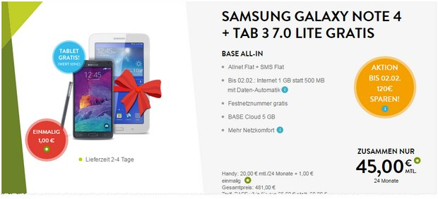 BASE + Samsung Galaxy Note 4 + Tablet