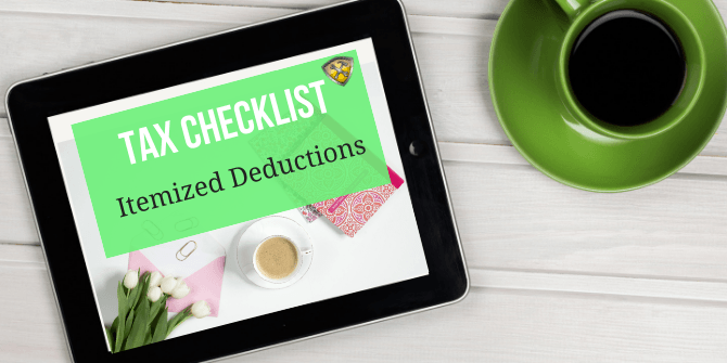 Tax Checklist Deductions
