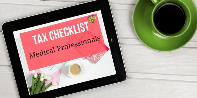 Tax Checklist Medical Professionals