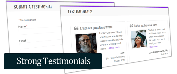 strong testimonials