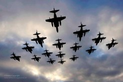 16-Ship Harrier Formation