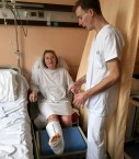 After the operation - first physiotherapy