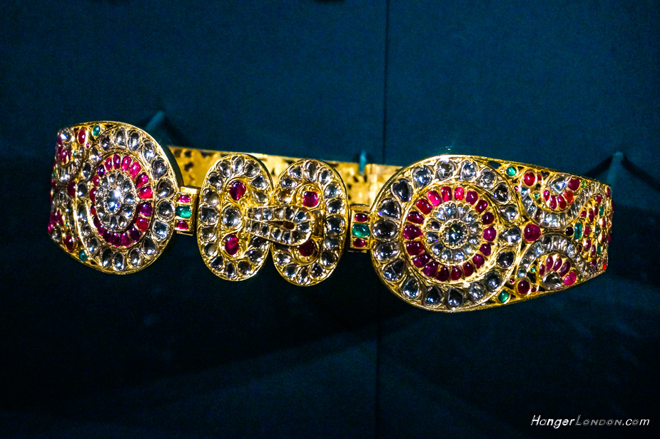 Waist Belt Gift for Queen Alexandra. Whilst their first stop in Bombay. A Gift from Marharaja of Mysore 1875 Gold Diamonds, rubies, emeralds