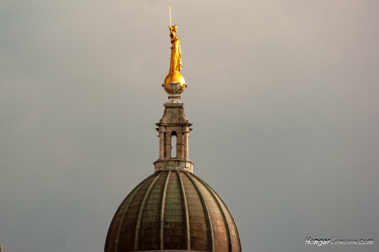 The dome of the Old Bailey justice courts London
