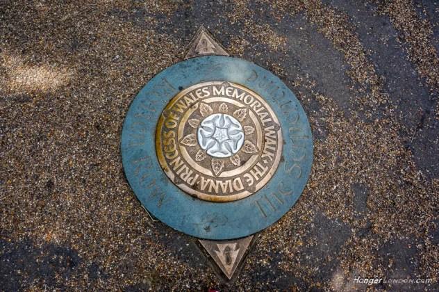 Princess Diana Memorial Walk disc on the floor