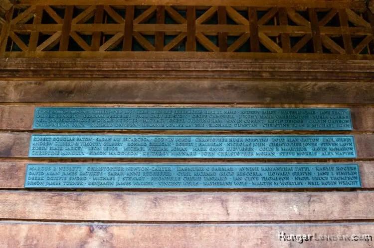 9/11 Memorial Garden memorial text Grosvenor Square