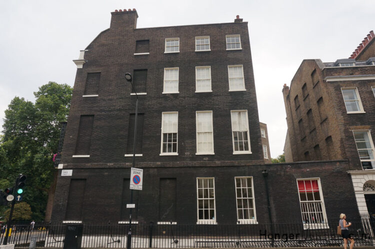 Millicent Fawcett lived on Gower St WC1 this is the house she would have seen opposite to her home where the blue plaque is.