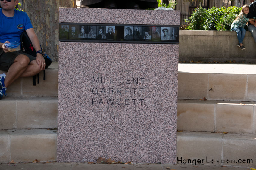 Millicent Fawcett Statue text parliament Sq