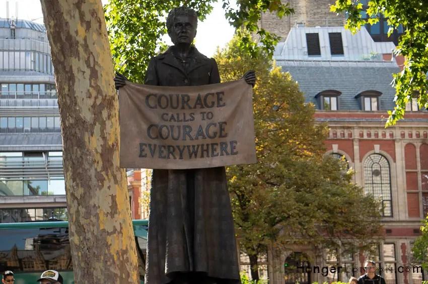 Millicent Fawcett Statue parliament Sq