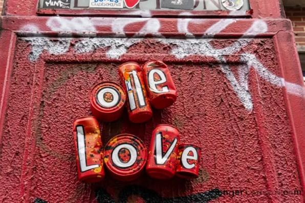 "Soho street art ""one love"""